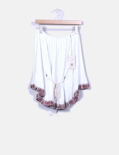 Blusa blanca mexicana Pettegole