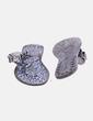 Chancla gris abalorios con animal print Arian