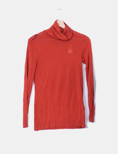 Camiseta color teja fluida Massimo Dutti