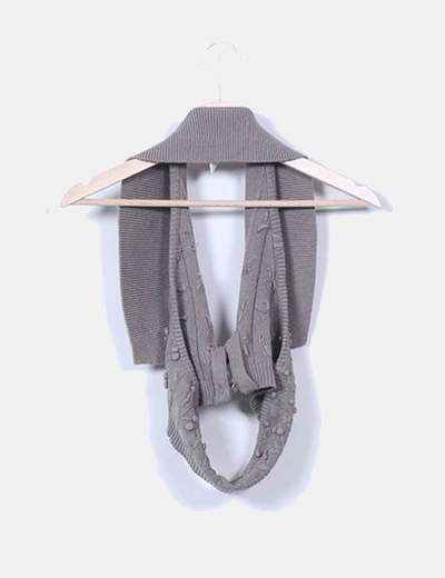 Chaleco tricot taupe