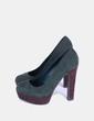 Zapato verde botella de antelina Marypaz