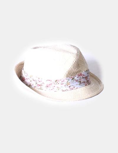 Sombrero con lazo floral NoName