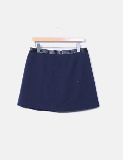 Mini falda azul marina combinada