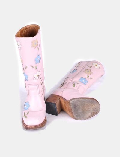 Botas cowboy rosas