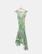 Vestido verde estampado Derhy
