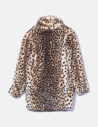 sitio de buena reputación baratas para la venta descuento mejor valorado Abrigo peluche print leopardo