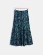 Maxi falda azul marino floral NoName