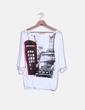 Camiseta blanca viscosa print Inside
