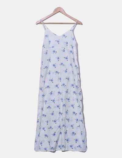 Vestido de gasa maxi con print floral