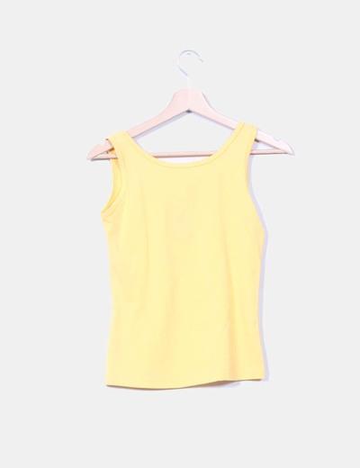 Camiseta amarilla print flores