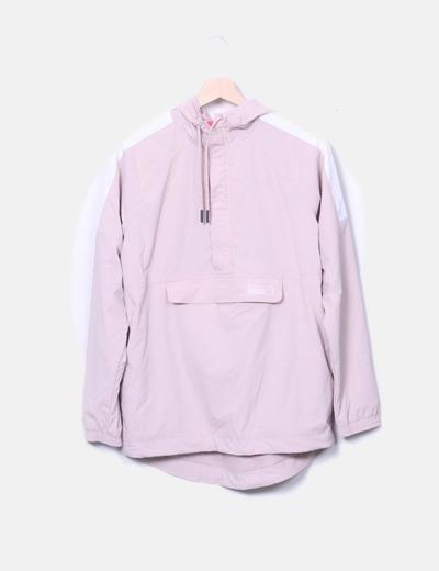 Chubasquero transpirable rosa palo
