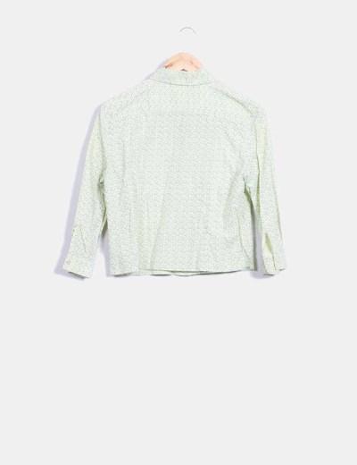 Camisa verde lima estampada
