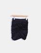 Minifalda negra drapeada H&M