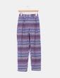 Pantalón baggy estampado étnico azul NoName