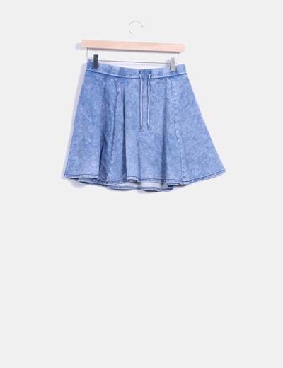 Mini falda vuelo efecto denim