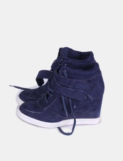 mejor baratas verse bien zapatos venta 2019 mejor Sneakers azul marino con cuña