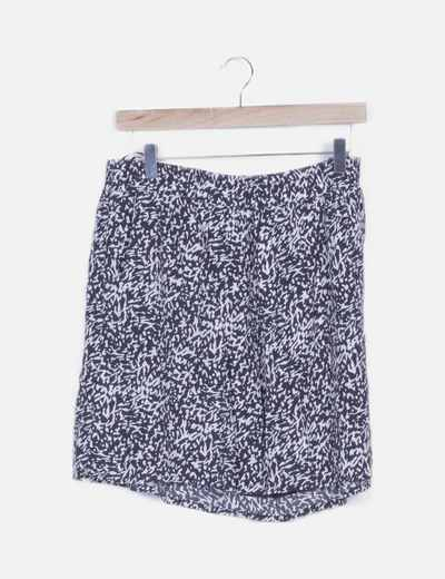 Mini falda fluida estampado bicolor