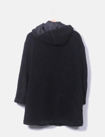 0acf3f8e965 Double Agent Abrigo de borrego negro con capucha (descuento 64%) - Micolet