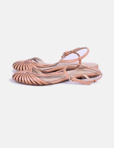 Sandales marron cangrejera Zara