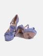 Zapatos ante azules Rebeca Sanver