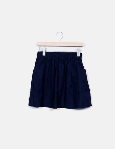 Mini-jupe bleue caoutchouc Asos