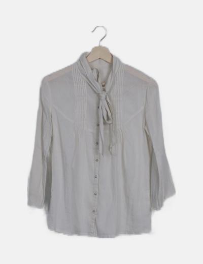 Camisa beige manga campana