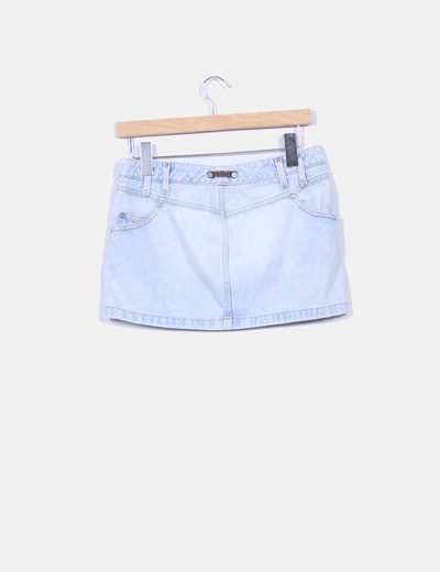 Mini falda denim azul claro