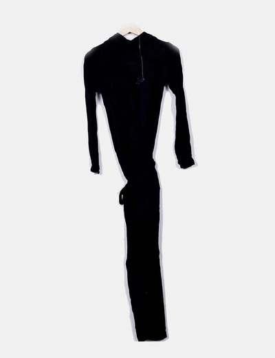 venta barata ee. fina artesanía diseño encantador Mono negro largo abotonado