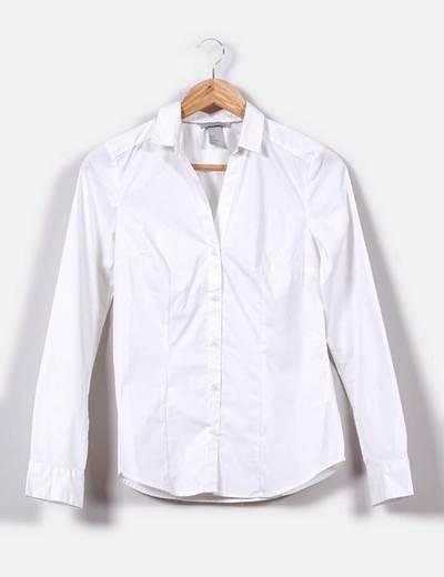 Camisa entallada blanca  H&M
