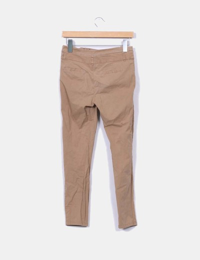 Pantalon pinzas camel