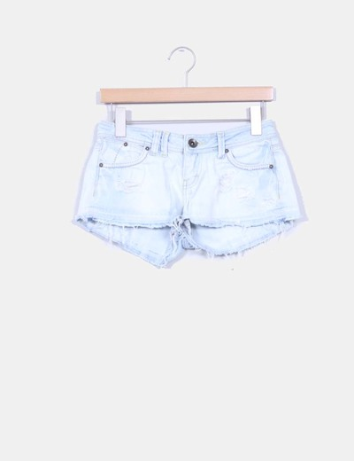 Shorts denim azul claro Bershka