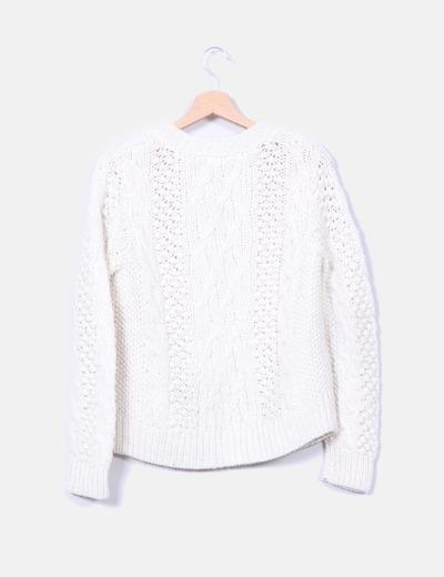 Chaqueta de lana color crudo