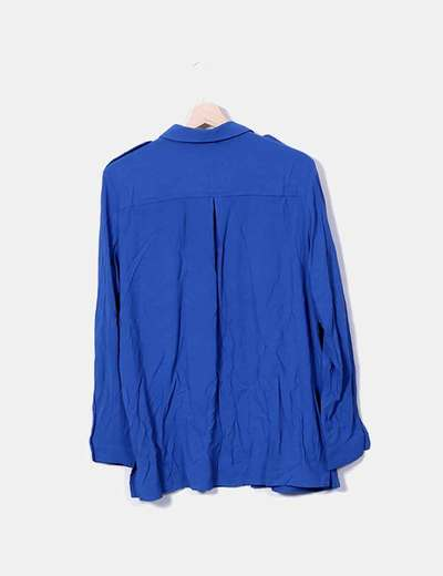 Camisa fluida azul