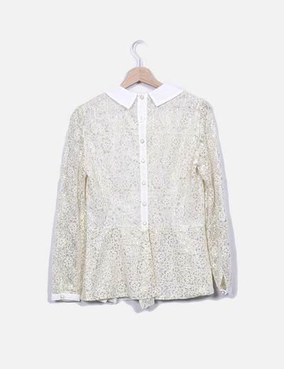 Blusa beige glitter