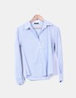 Camisa a rayas azul de rayas blancas Caroll