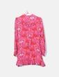Vestido de manga larga estampado Zara