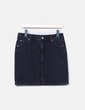 Mini falda denim negra Easy Wear