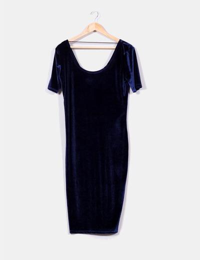 Vestido azul de lefties