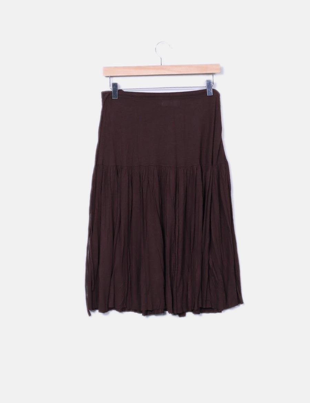 marrón Zara vuelo baratas con Falda Faldas online 7qzUdwfxf ... 888e582b3eed