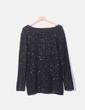Jersey tricot negro paillettes dorados Primark