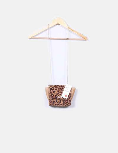 Bolso mini combinado animal print