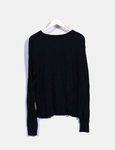 Camiseta negra print call me