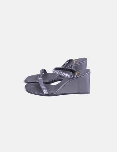Sandales grises paillettes coincent Castañer