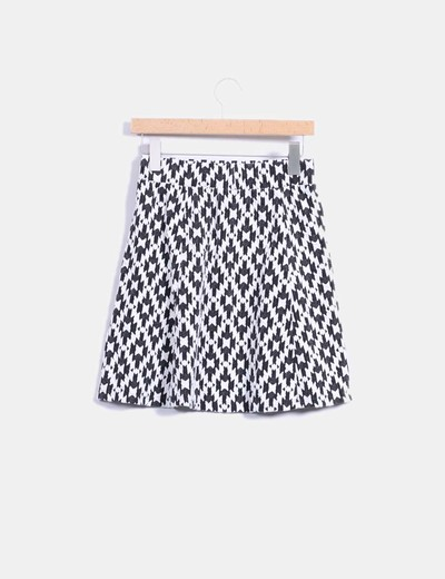 Minifalda skater texturizada