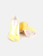 Zapato peep toe de cuña amarillos Stradivarius