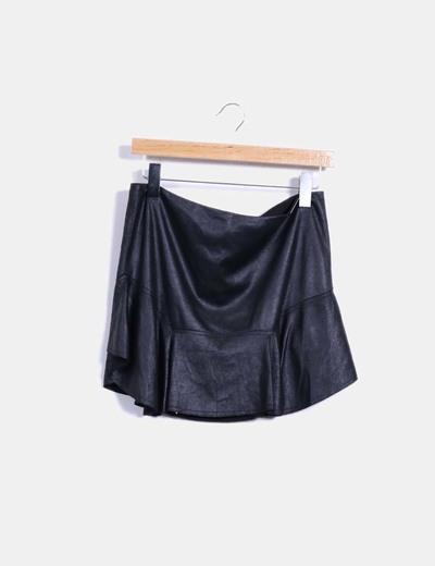 Falda negra con volante Liu·Jo