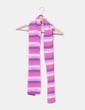 Bufanda de rayas tonos rosas y morados NoName