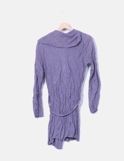 Cardigan tricot morado