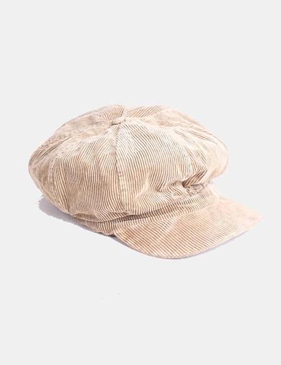 Gorra de pana beige NoName
