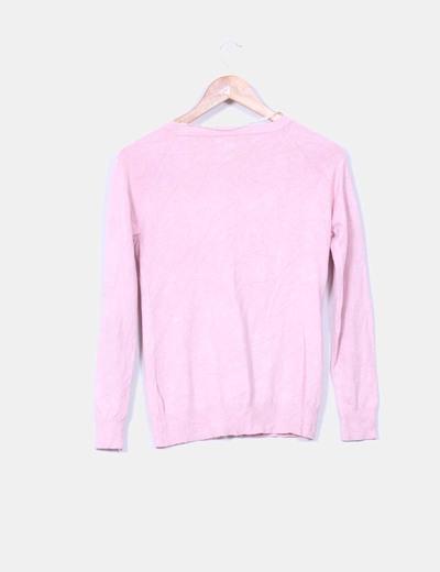 Chaqueta rosa palo abotonada